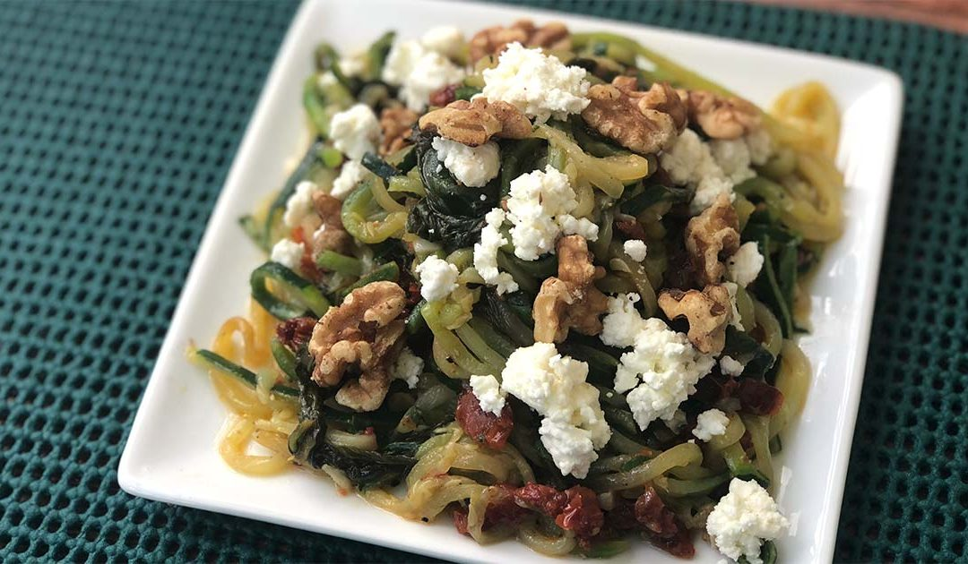 Mediterranean Zucchini Noodles with Goat Cheese