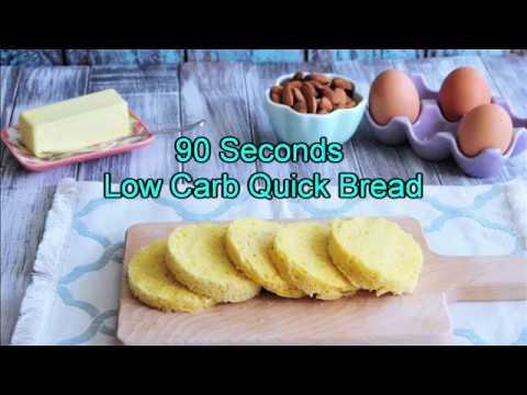90 Seconds Low Carb Quick Bread – Gluten Free, Sugar Free, Flourless, Keto Friendly Recipe
