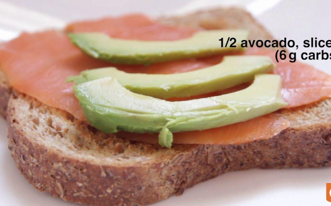 Avocado & Smoked Salmon Breakfast Toast Recipe | Sugar Sense Diabetes App