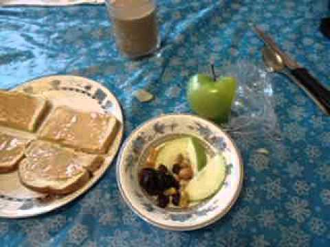 Diabetic Diet Medication Breakfast Toast Peanut Butter Apple Fruit Coffee Portions