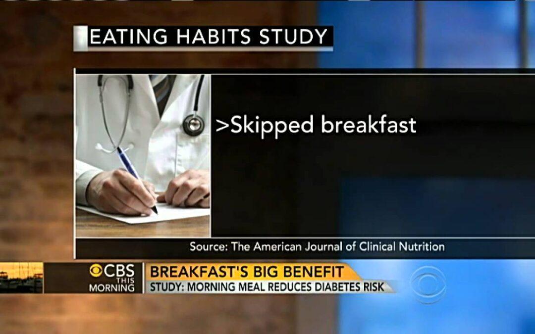 Eating breakfast may help lower diabetes risk