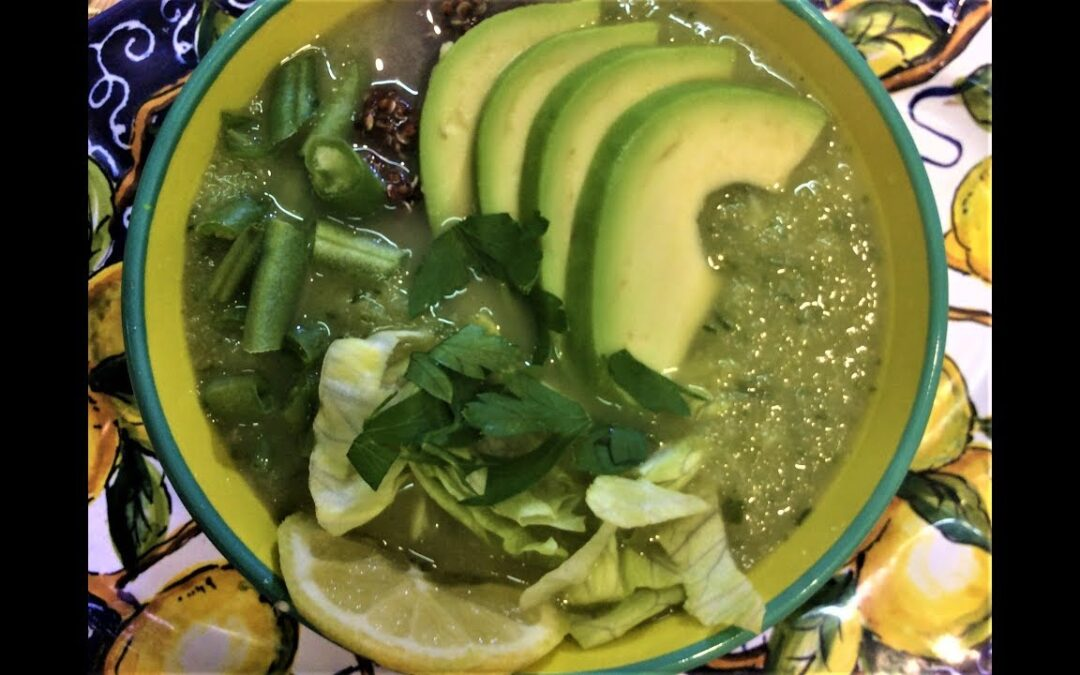 Lettuce Soup with Avocado and Quinoa [gluten free, diabetic friendly]