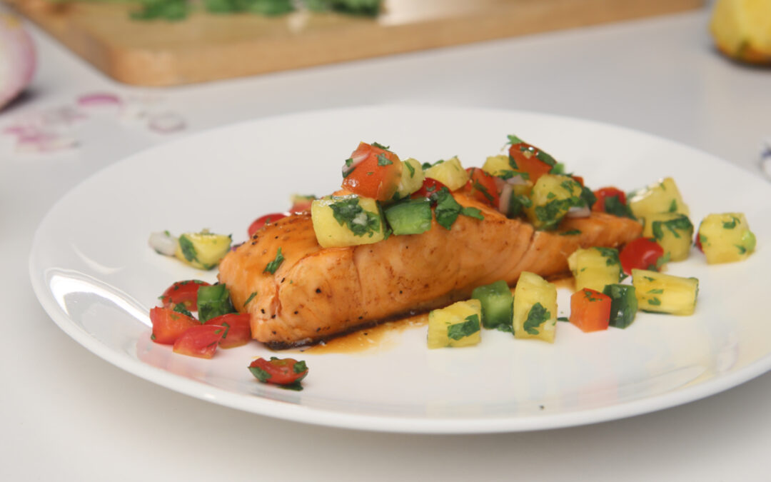 Salmon With Cilantro-Lime Salsa – Diabetes Self-Management