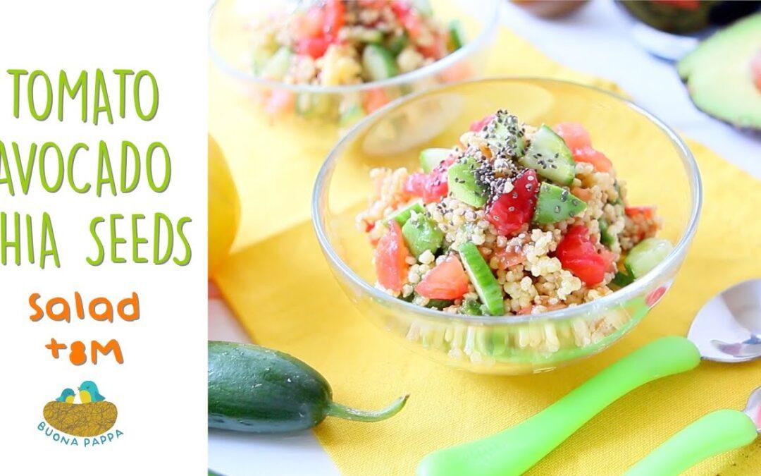 Millet Tomato Avocado Chia Salad +8M baby food recipe