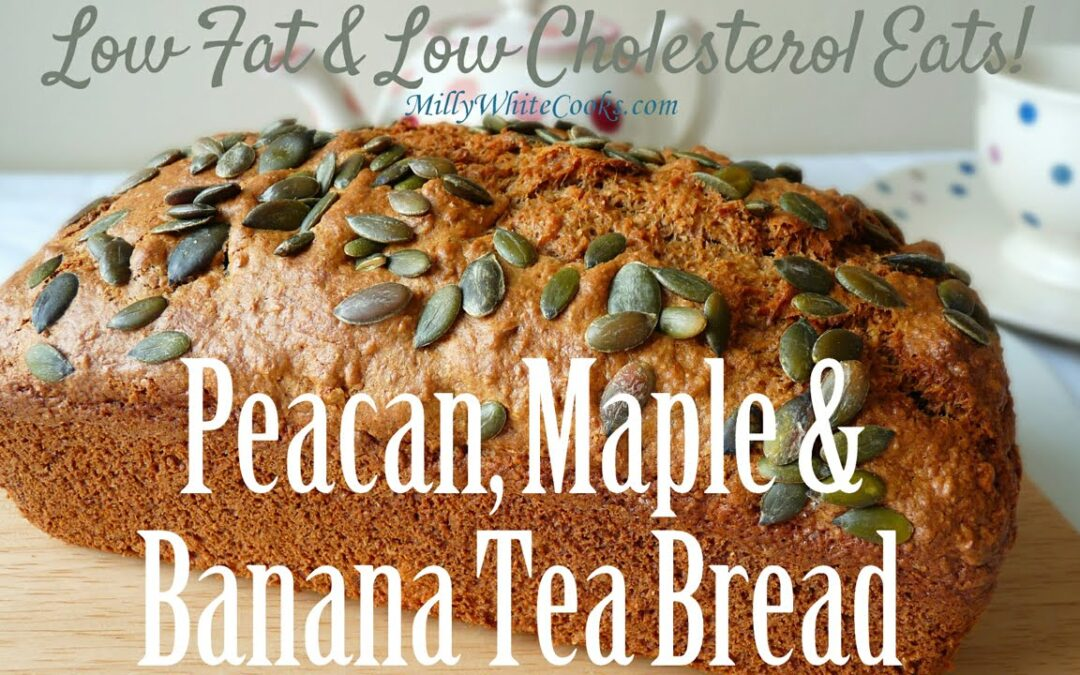 Banana, Nut & Maple Tea Bread | Easy Low Fat Low Cholesterol Diet Recipe | Best Heart Healthy Cakes